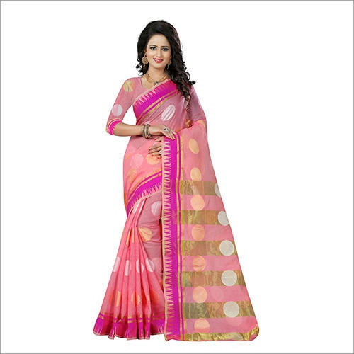 georgette bridal wear ladies kathpadar saree with blouse piece rs