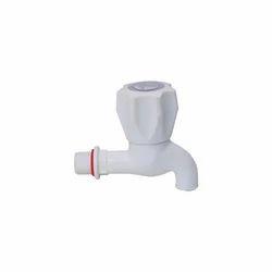 White PVC Bib Cock