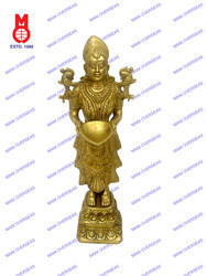 Deep Laxmi Standing On Lotus Base