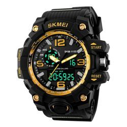 Skmei Mens Addic Analogue Digital Gold Dial Watch