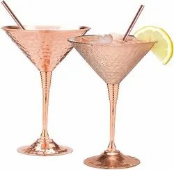 Hammered Copper Martini Glasses