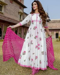 Designer Kurti With Shawl