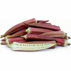 A Grade Red Okra, Gunny Bag, 10 Kg
