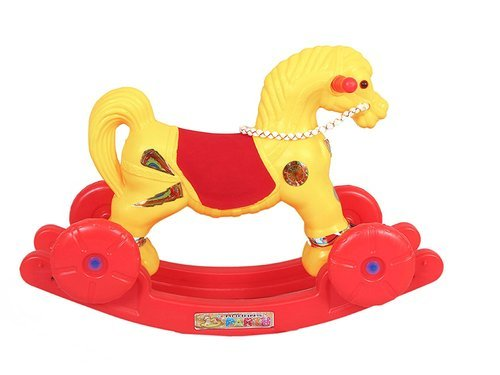 Arsdewy Yellow Multi Ride Rocking Horse Toy For Kids For Personal