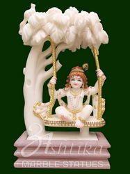 Marble Bal Krishna Statue