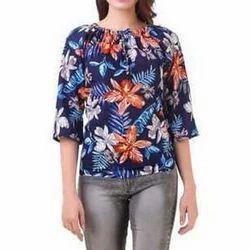 Girls Cotton Printed Designer Top, Size: S-XXL