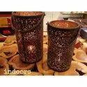 Iron Najam Meatl Basket Light Holder, For Decoration