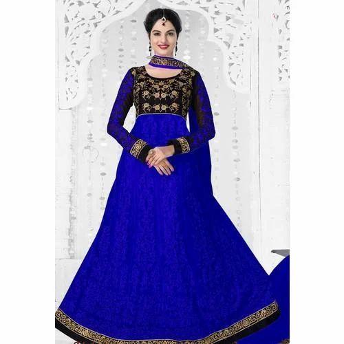 d9710b0f8f Party Wear Blue Anarkali Suit, Rs 320 /piece, Garib Nawaz Textile ...