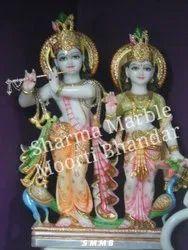 Lord Radha Krishna Marble Sculpture