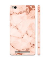 Pink And Rose Gold Marble Print 2 On Xiaomi Redmi 4A Cover