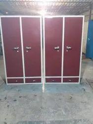 Red Wooden Office Locker Almirah