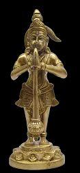 Standing Hanuman On Lotus Base Statue