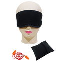 Eye Mask with Pouch and Earplug Combo