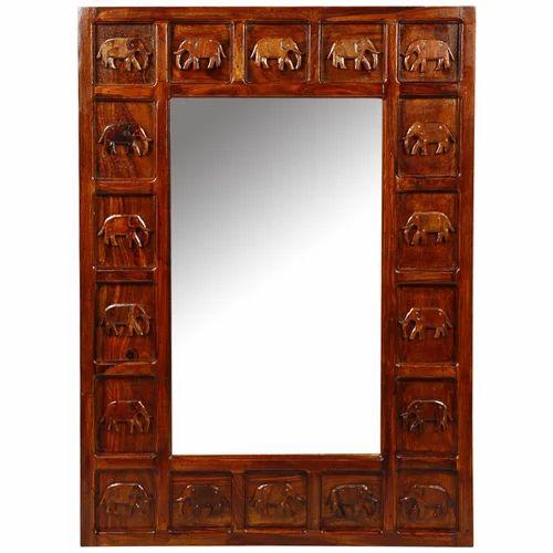 Thar Art Gallery Rectangular Mirror Frame Elephant Small