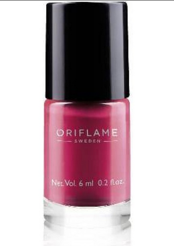 Oriflame Pure Colour Nail Polish Mini Ruby Pink Pack Size
