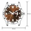 Jainx Silver Day and Date Analogue Watch for Men's & Boys JM322