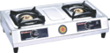 Sunflower White Two Burner Gas Stove
