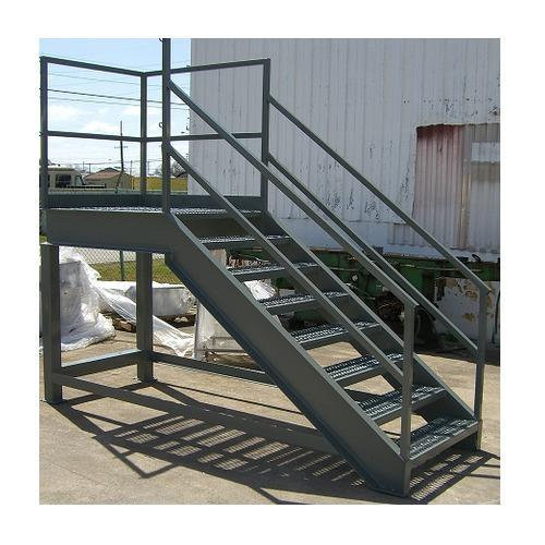 Industrial Metal Staircase Design: Dog Legged Industrial Iron Staircase, Rs 250 /kilogram, P