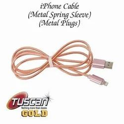 Tuscan Rose Gold Iphone Charging Cable