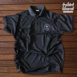 TShirt Bharat Black Sports Dotted T-Shirt