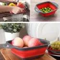 2 Pieces/Set Collapsible Foldable Fruit Vegetable Washing Basket Strainer