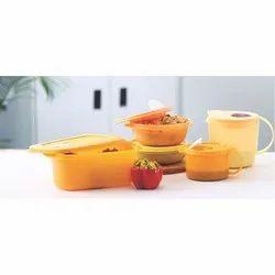Plastic Plain Tupperware Microwave Container Set, Capacity: 100 - 500 mL