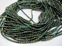 Black Spinel Green Coated Beads