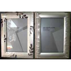 Rectangle Silver Finish Two Side Photo Frame