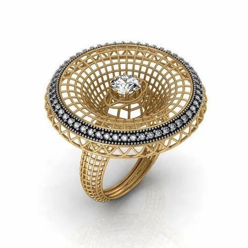 cc603dbd57e24 Golden Ladies Wedding Ring