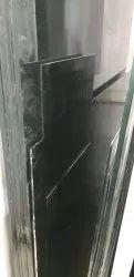 Plain Black Window Glass, Size: 48 X84, Thickness: 3.50