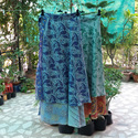 Summer Beach Sarong Silk Wrap Printed Long Skirt