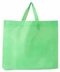 Plain Green Loop Handle Non Woven Carry Bag