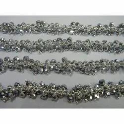 Silver Pyrite Gemstone Cluster Chain