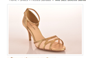 Mid Size Stiletto Sandals With Mesh Inset