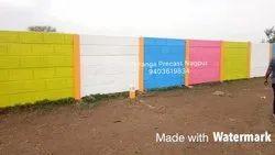 Precast Coloured Concrete Compound Wall