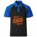 Cotton Custom Mens Collar T Shirt