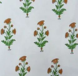 Floral Hand Block Print Fabric