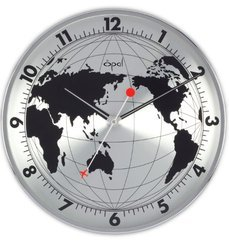 World Map Printed Wall Clock