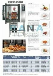 Silver Stainless Steel Combi Oven