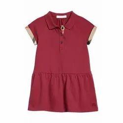 Girls Polo Neck Short Sleeve Dresses