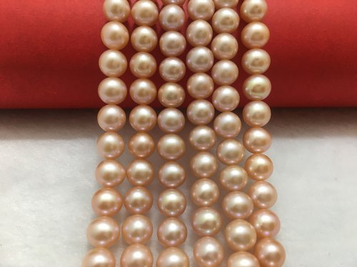 Luster A 12-14 MM Size Fancy Shape Multi Color  Beautiful Freshwater Pearl String