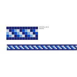 Crystal Glass Mosaic Border Tiles