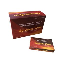 Lycopene, Zeaxanthin, Vitamin D3 and Minerals Softgel Capsules, Renown, Packaging Type: Box