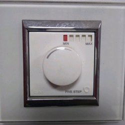 Polycarbonate White Ceiling Fan Regulator, 5 Step