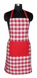 Woven Checker Kitchen Apron