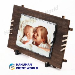 Wooden Stone Photo Frame