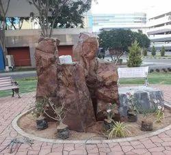 Faux Rock Fiber Fountain