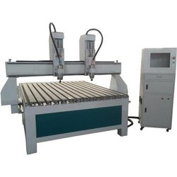 Mild Steel (Machine Body) Double Head CNC Wood Cutting Machine, For Industrial, 3.5 Kw