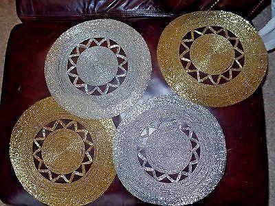 Favorite Gold Beaded Placemats at Rs 170 /piece   Motiyon Se Saji Hui Table  CQ57