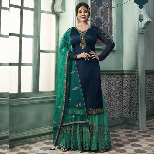 cae061b6be Georgette Blue Designer Sharara Suits, Rs 2198 /piece, Gaurav ...